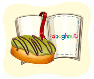 Donut with green frosting Royalty Free Stock Images