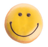 Donut. happy face donut on background Royalty Free Stock Photos