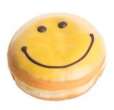 Donut. happy face donut on background Stock Photo
