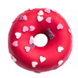 Donut with heart sprinkles isolated on white background. Donut f Stock Images