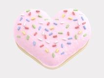 Donut-Herz Lizenzfreies Stockbild