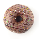Donut. High resolution top view image of donut on white background shot in studio