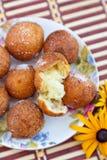 Donut Holes. Fresh russian sugary donut holes Royalty Free Stock Photography