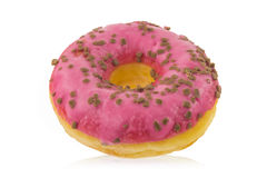 Donut with icing Royalty Free Stock Photography