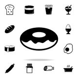 Donut icon. Detailed set of food and drink icons. Premium quality graphic design. One of the collection icons for websites, web de. Sign, mobile app on white Royalty Free Stock Image