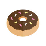 Donut icon. Donut graphic illustration flat vector icon design Royalty Free Stock Photography