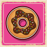 Donut icon. Sweet food product. Vector graphic Royalty Free Stock Photo