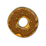 Donut.  illustration Stock Photo