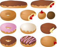 Donut illustrations royalty free stock photography