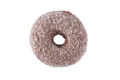 Donut im Schokoladenbereifen und in den Kokosnussflocken Stockfotos