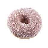 Donut im Schokoladenbereifen und in den Kokosnussflocken Lizenzfreies Stockbild