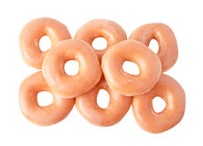 Donut isolated on white background Stock Photos