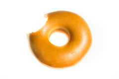 Donut Isolated on a White Stock Images
