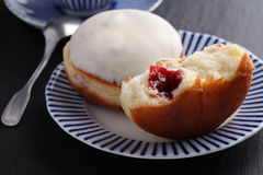 Donut with jam Stock Photography