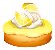 Donut with lemon flavor Stock Image