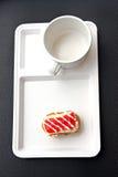 Donut like sushi on white dish. Stock Images