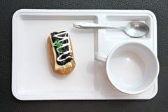 Donut like sushi on white dish. Stock Photography