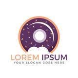 Donut logo  illustration. Royalty Free Stock Photography