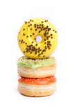 Donut lokalisiert auf einem weißen Hintergrund Stockbild