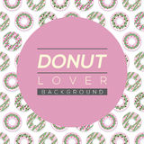 Donut Lover Background. Stock Photos