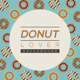Donut Lover Background. Royalty Free Stock Photography