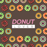 Donut Lover Background. Royalty Free Stock Photo