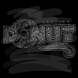 Donut Menu. Chalk on a blackboard. Vector illustration Royalty Free Stock Photo