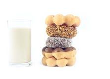 Donut with milk Stock Photos