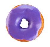 Donut mit der farbigen Glasur, lokalisiert auf weißem Hintergrund lizenzfreies stockbild