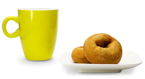 Donut and mug Stock Image