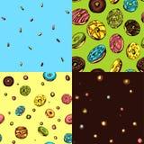 Donut-Muster vektor abbildung
