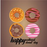 Donut National Day Illustration - Vector royalty free stock images