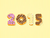 Donut 2015 New Year Text. This image is a donut 2015 text vector illustration Stock Images