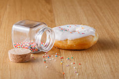 Donut with nonpareils Royalty Free Stock Photos