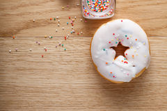 Donut with nonpareils Royalty Free Stock Photography