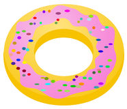 Donut. Pastry cartoon, vector illustration, over white, isolated Stock Image
