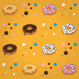 Donut pattern Royalty Free Stock Photo