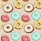 Donut pattern 12 Stock Image