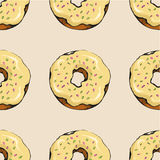 Donut pattern 15 Royalty Free Stock Photo