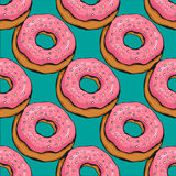 Donut pattern 18 Stock Photos