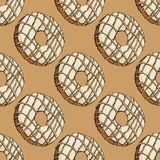 Donut pattern 20 Royalty Free Stock Photos