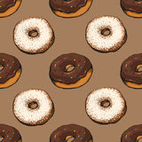 Donut pattern 13 Royalty Free Stock Photos