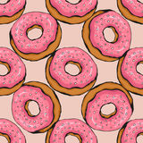 Donut pattern 17 Stock Photos