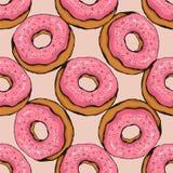 Donut pattern 17 Stock Photos