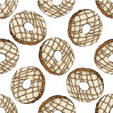 Donut pattern 19 Royalty Free Stock Photography