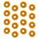 Donut pattern Royalty Free Stock Images