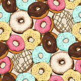 Donut Pattern Sketch Royalty Free Stock Photography