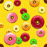 Donut pattern Royalty Free Stock Image