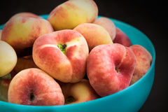 Donut peaches Royalty Free Stock Images
