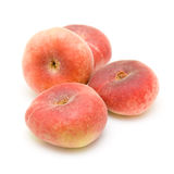 Donut peaches isolated on white Stock Photo